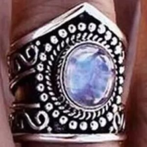 Jewelry - Very Comfortable and stylish 925 Moonstone Ring 10